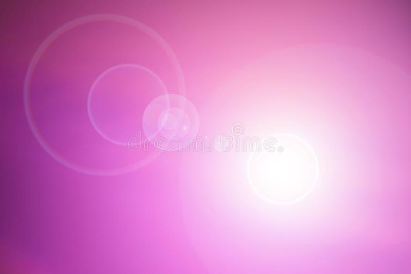 Fondo rosado con la flama de la lente imágenes de archivo libres de regalías