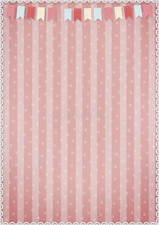 Fondo rosado con las banderas ilustración del vector