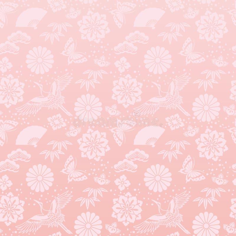 Fondo rosado con los nuevos ejemplos chinos de los year's libre illustration