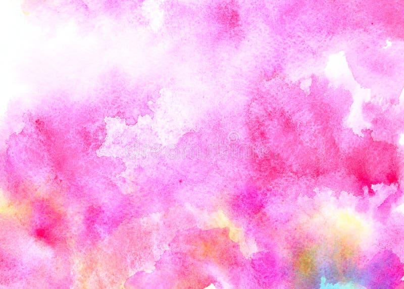 Fondo rosado de la acuarela stock de ilustración