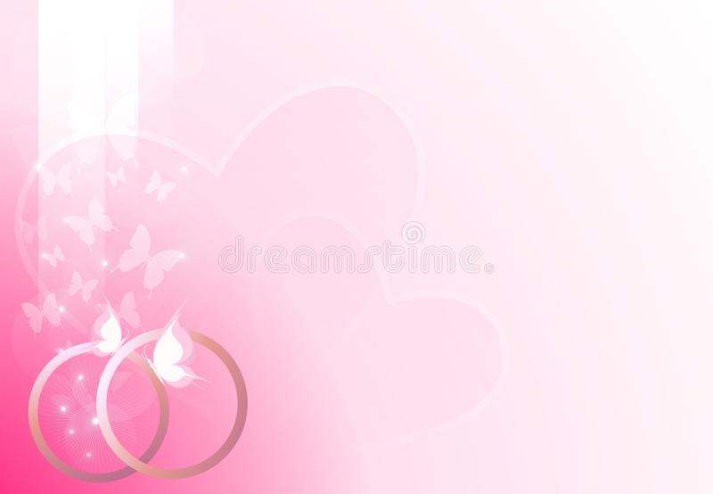 Fondo rosado de la boda libre illustration