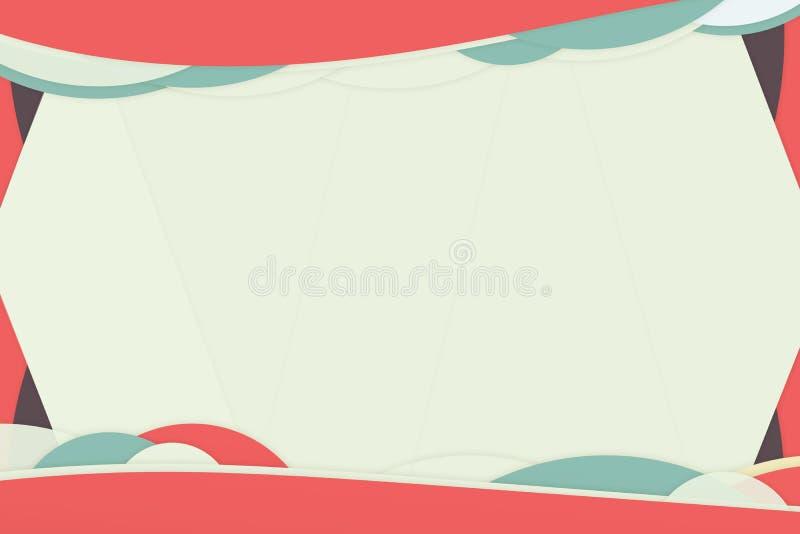 Fondo rosado de la curva del niño ilustración del vector