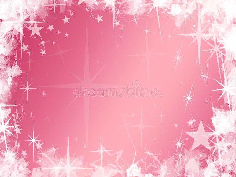 Fondo rosado de la estrella de Grunge ilustración del vector