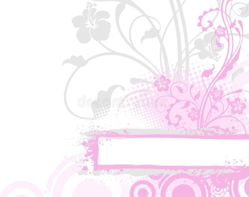 Fondo rosado de la flor stock de ilustración
