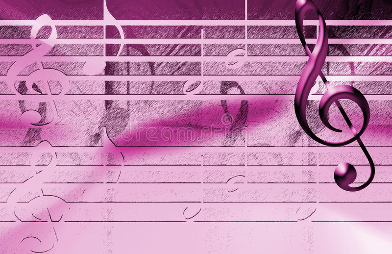 Fondo rosado de la música fotos de archivo