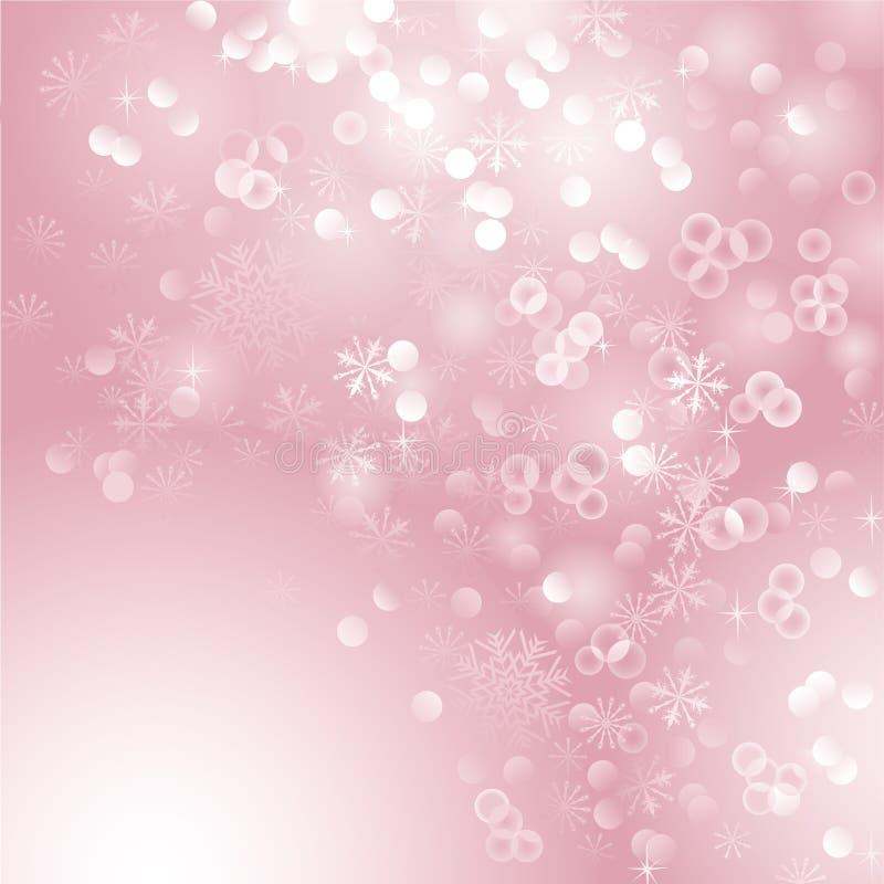 Fondo rosado de la Navidad stock de ilustración