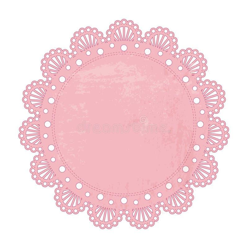 Fondo rosado de la servilleta stock de ilustración