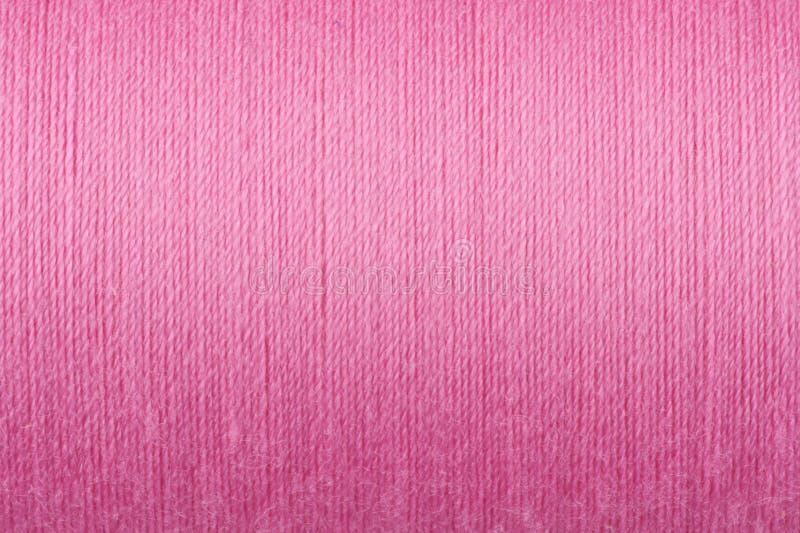 Fondo rosado de la textura de la cuerda de rosca imágenes de archivo libres de regalías