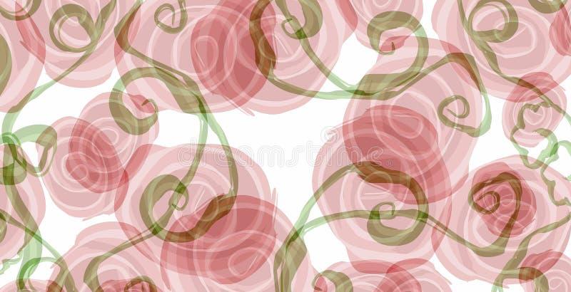 Fondo rosado de la textura de las rosas stock de ilustración