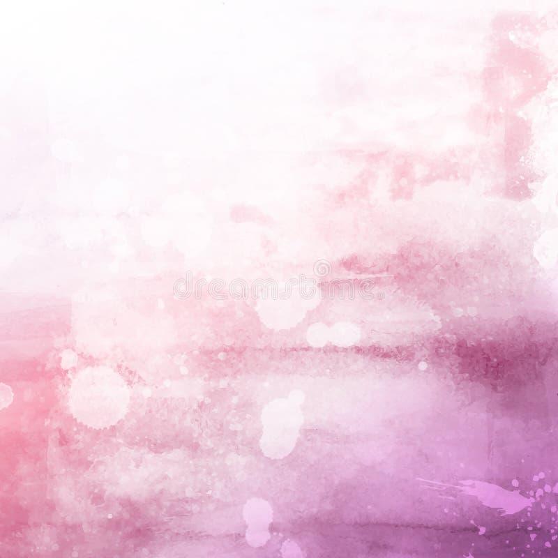 Fondo rosado de la textura del watercolour stock de ilustración