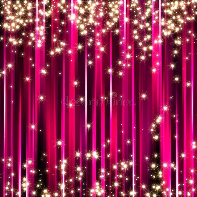 Fondo rosado de las estrellas de la chispa ilustración del vector