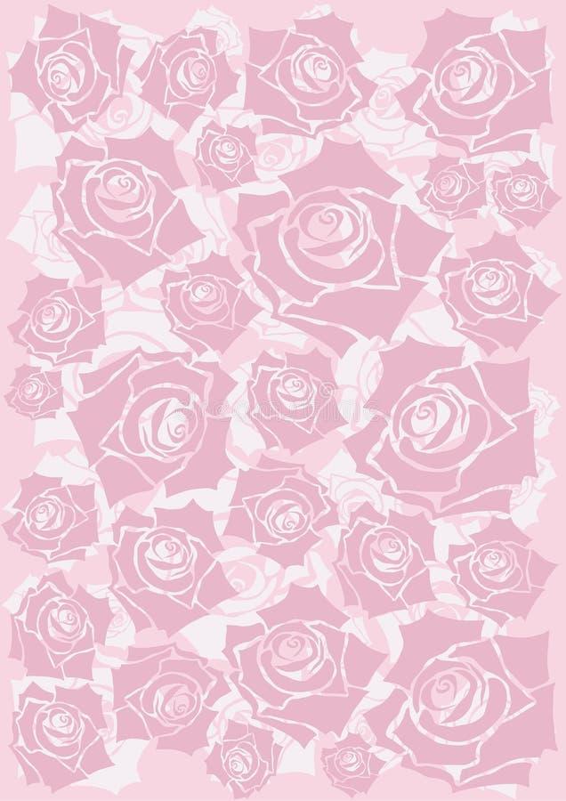 Fondo rosado de las rosas stock de ilustración