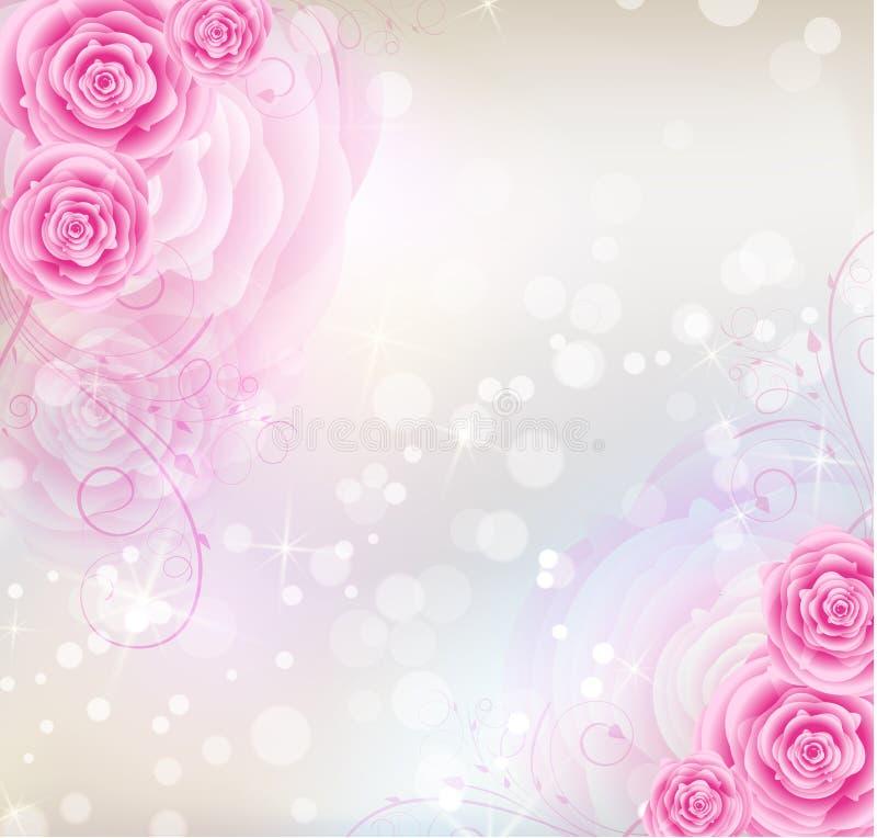 Fondo Rosado De Las Rosas Imagenes De Archivo Imagen