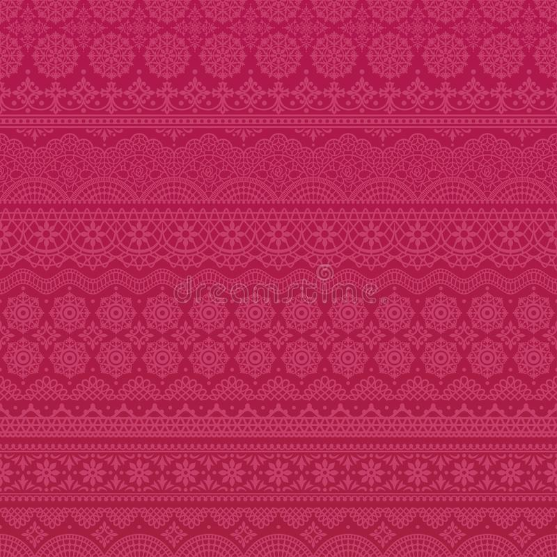 Fondo rosado de los ajustes del cordón ilustración del vector