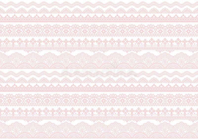 Fondo rosado de los ajustes del cordón stock de ilustración