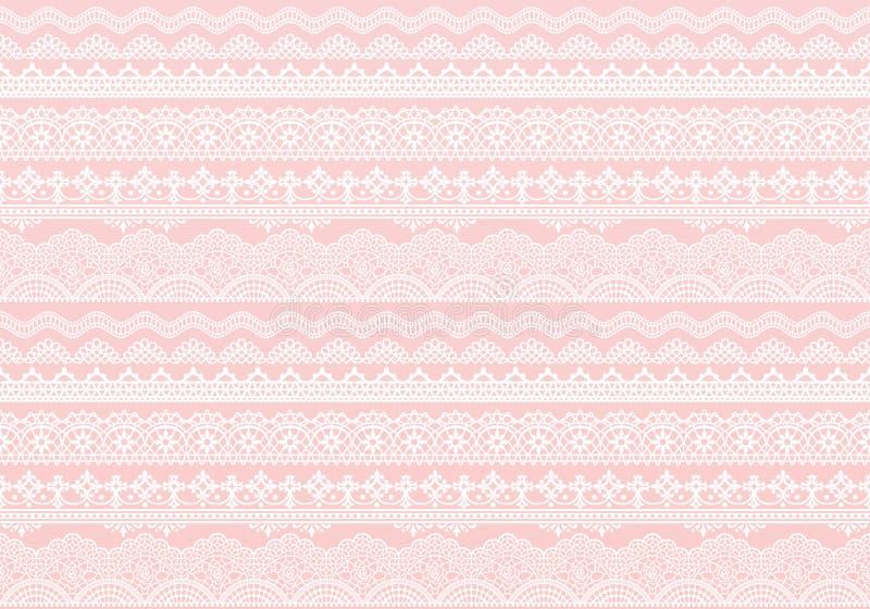 Fondo rosado de los ajustes del cordón libre illustration