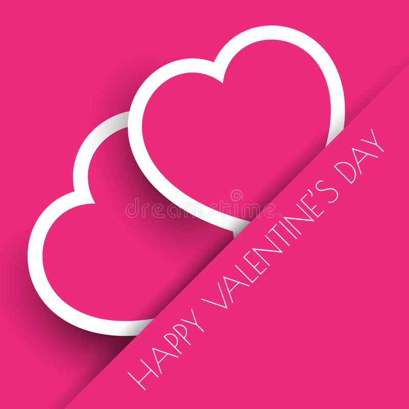 Fondo rosado de los corazones del día de tarjeta del día de San Valentín stock de ilustración