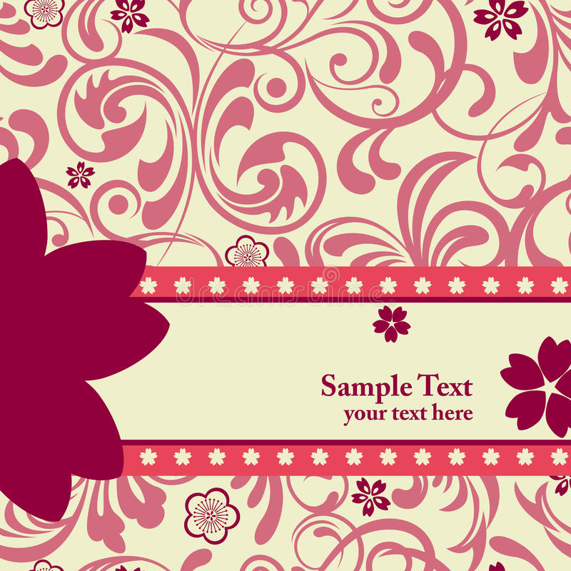 Fondo rosado de los flores de cereza ilustración del vector