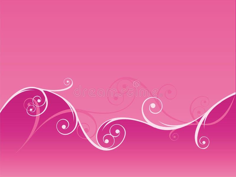 Fondo rosado de Swirly libre illustration