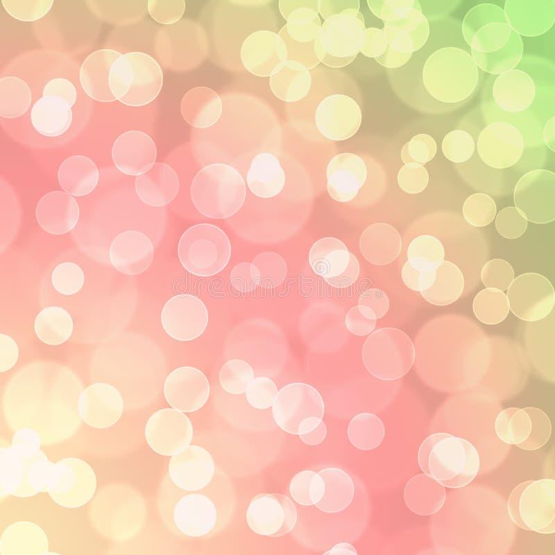 Fondo rosado del extracto del globo del brillo de Bokeh del verde amarillo fotos de archivo libres de regalías