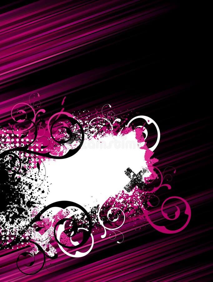 Fondo rosado del grunge de la raya ilustración del vector