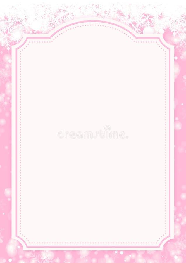 Fondo rosado del papel de las vacaciones de invierno ilustración del vector