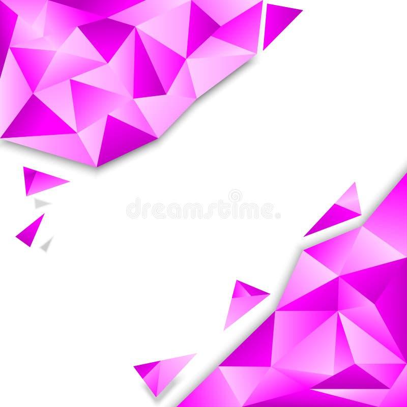 Fondo rosado del polígono libre illustration