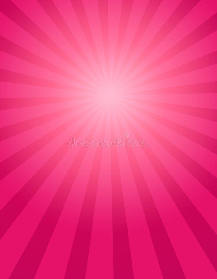 Fondo rosado del rayo stock de ilustración