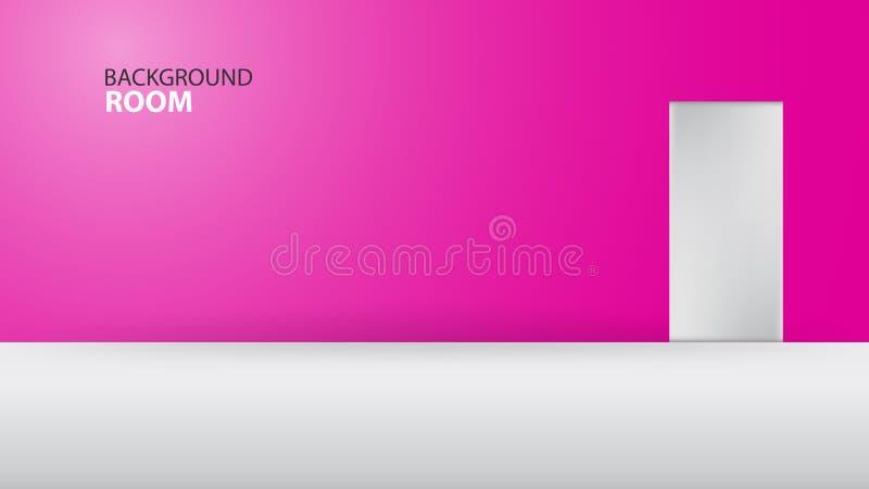 Fondo rosado del sitio, plantilla vacía del vector, diseño de la bandera, cubierta, página web, anuncio, textura, avertisement libre illustration