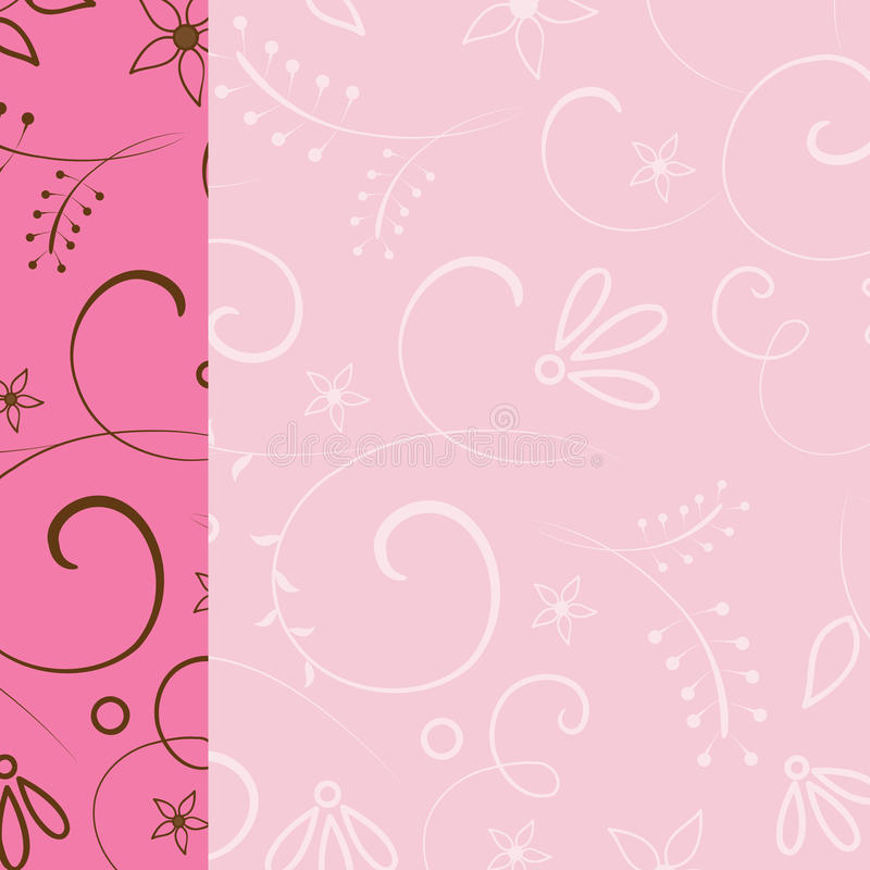 Fondo rosado floral de la vendimia ilustración del vector