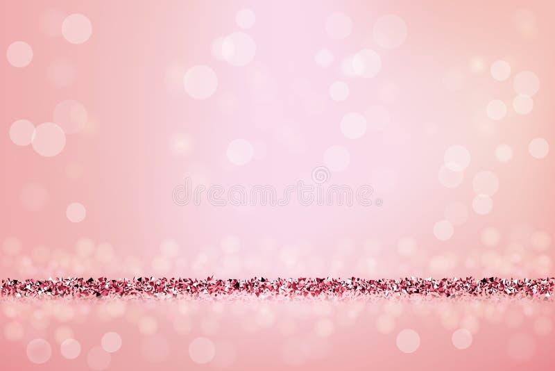 Fondo rosado hermoso con brillo rosado Ilustración del vector libre illustration