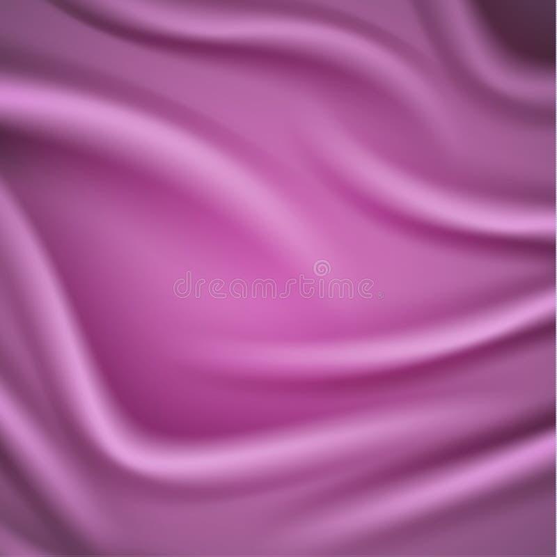 Fondo rosado liso del satén con los dobleces stock de ilustración