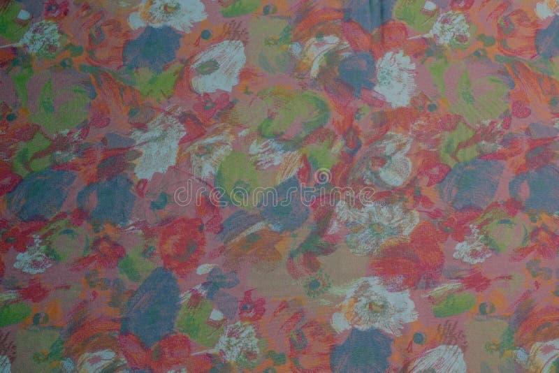 Fondo rosado modelado flor de la plantilla de la tela imagenes de archivo