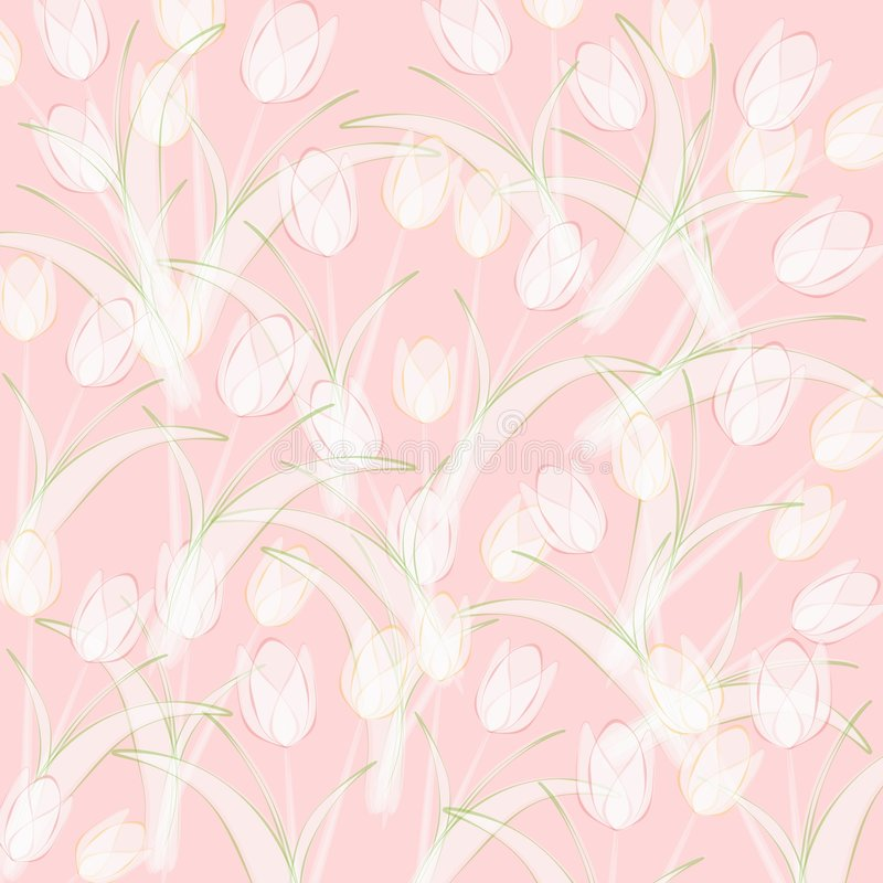 Fondo rosado opaco de los tulipanes del resorte stock de ilustración