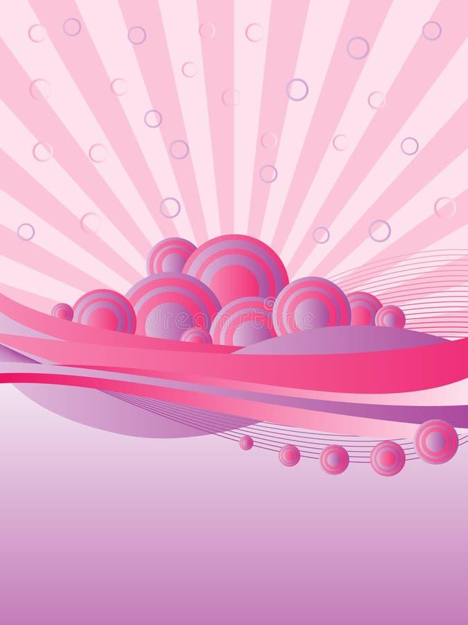 Fondo rosado retro ilustración del vector