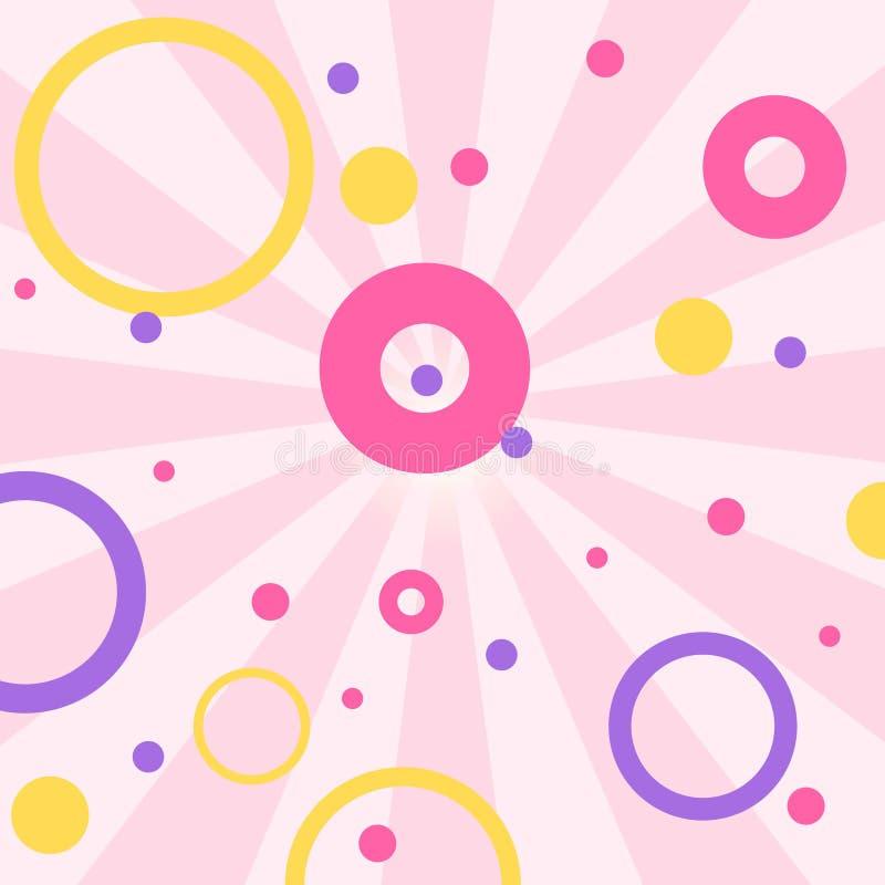 Fondo rosado romántico lindo del vector en estilo de la sorpresa de la muñeca de LOL La decoración para el cumpleaños de los niño libre illustration