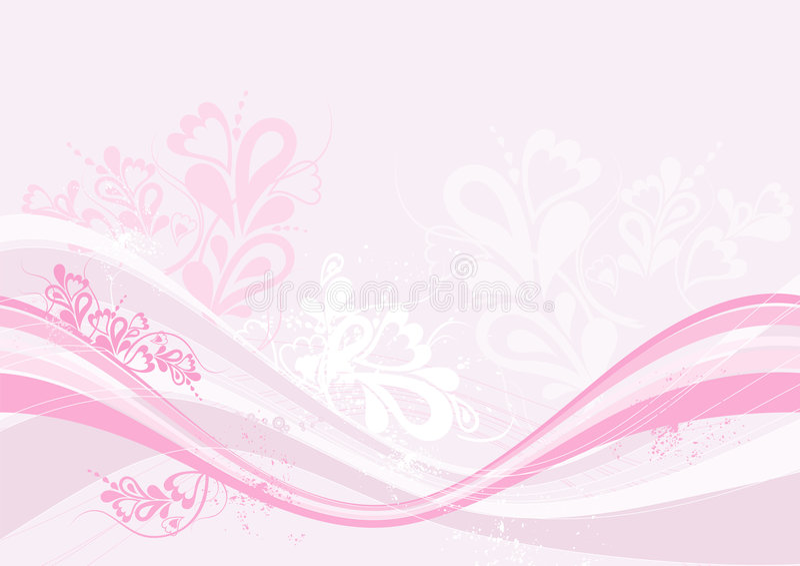 Fondo rosado, vector stock de ilustración