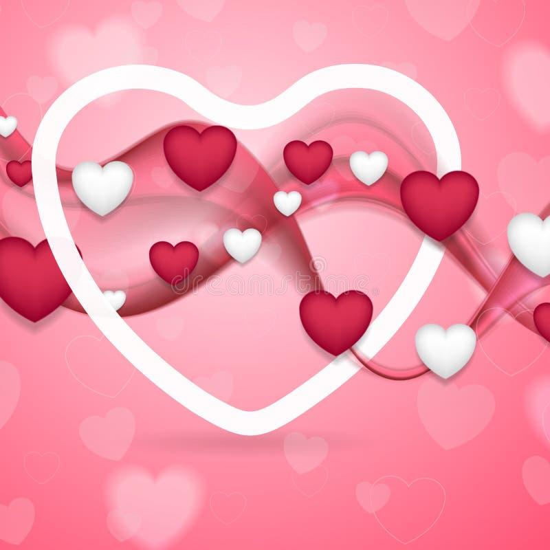 Fondo rosado y blanco del extracto del día de tarjetas del día de San Valentín ilustración del vector