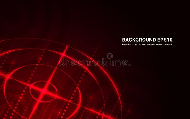 Fondo rosso astratto del nero della gamma di fucilazione dell'obiettivo illustrazione di stock