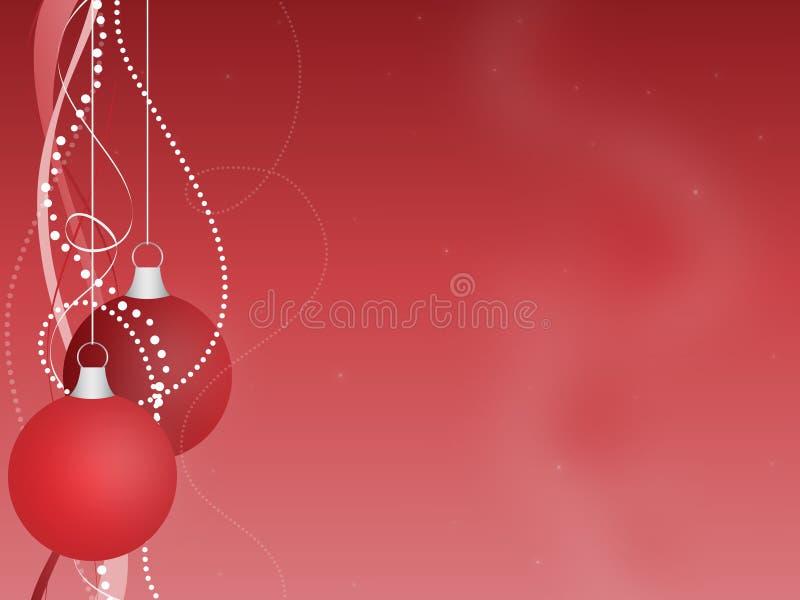 Fondo rosso degli ornamenti di Natale fotografie stock libere da diritti