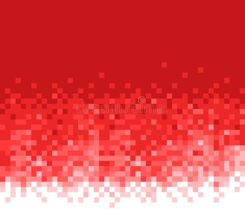 Fondo rosso del mosaico Reticolo astratto illustrazione vettoriale