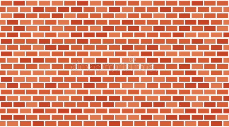 Fondo rosso del muro di mattoni di vettore Muratura urbana di vecchia struttura Carta da parati d'annata del blocchetto di archit illustrazione di stock