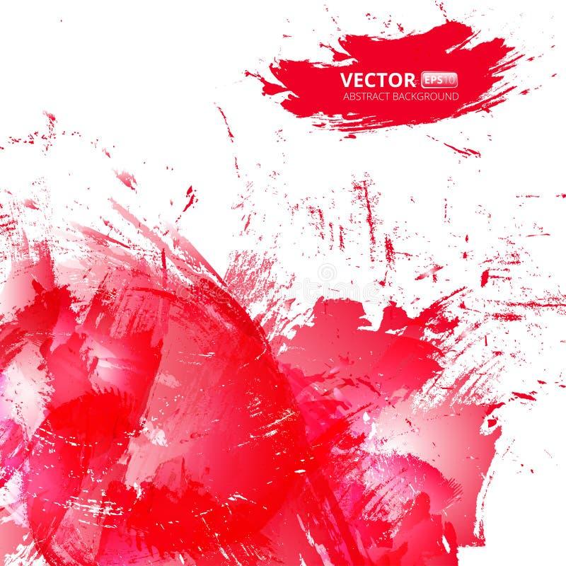 Fondo rosso dell'acquerello di vettore astratto royalty illustrazione gratis