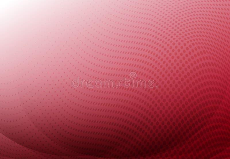 Fondo rosso dell'estratto della curva con lo spazio di semitono della copia dell'onda Vec royalty illustrazione gratis