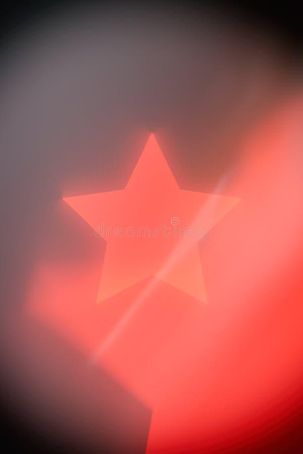 Fondo rosso dell'estratto della stella fotografie stock libere da diritti