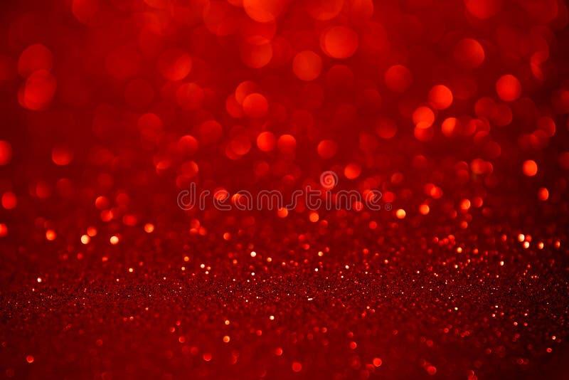 Fondo rosso dell'estratto di natale di scintillio immagini stock