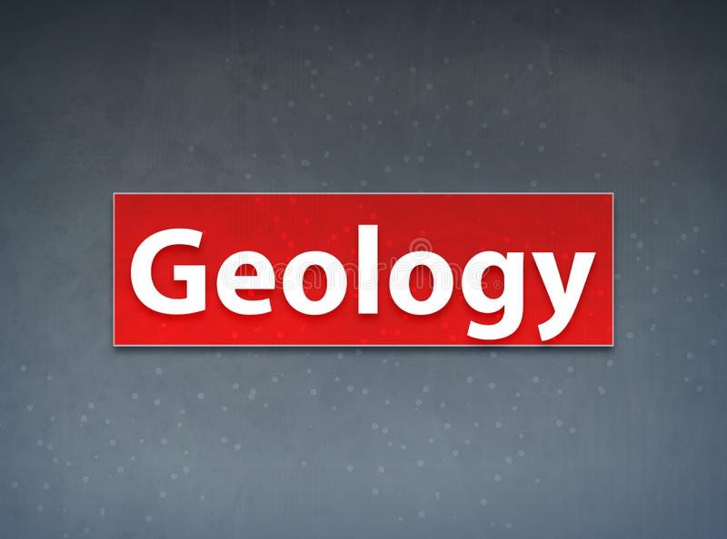 Fondo rosso dell'estratto dell'insegna di geologia royalty illustrazione gratis