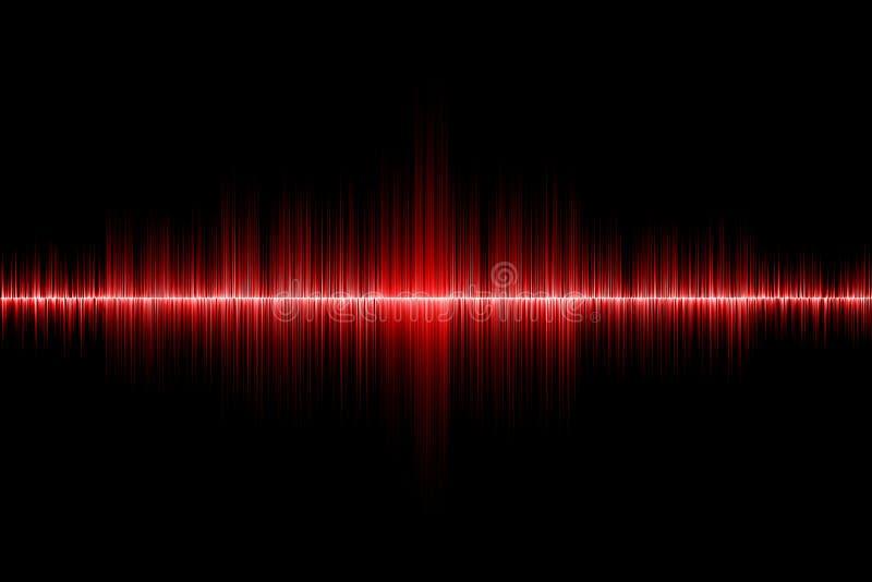 Fondo rosso dell'onda sonora fotografia stock libera da diritti