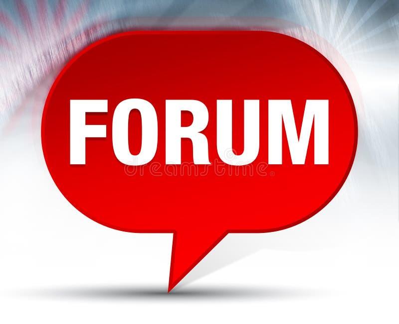 Fondo rosso della bolla del forum illustrazione vettoriale