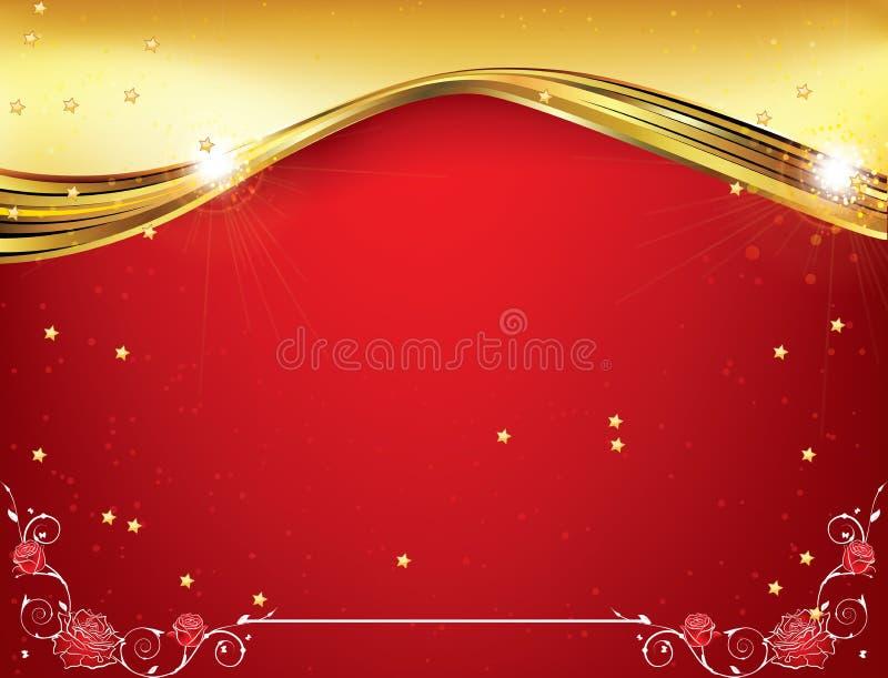 Fondo rosso di celebrazione per qualsiasi occasione royalty illustrazione gratis